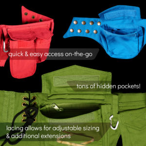 hipsack utility waist-belt - tons of useful pockets - flowtoys