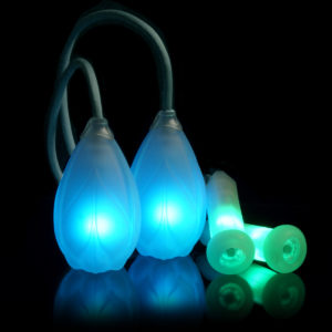 podpoi® v2 with capsule handles - led rechargeable glow poi with glow handles